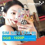 Đăng ký sim siêu tám 90 Vinaphone nhận 1020 phút gọi và 5GB data