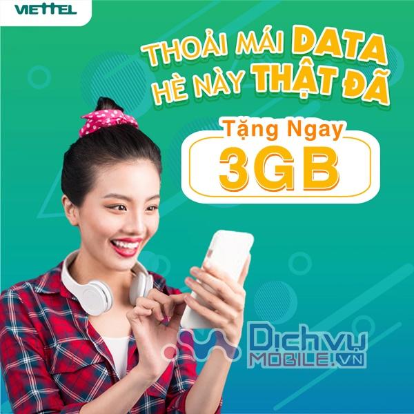 HOT: Viettel khuyến mãi tặng free 3GB data 4G cho khách hàng