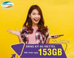 Cách đăng ký 4G Viettel nhận 153GB giá chỉ 50,000đ từ Viettel cực dễ