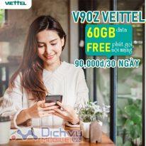 Cách đăng ký gói cước V90Z Viettel nhận 30GB và free thoại chỉ 90,000đ