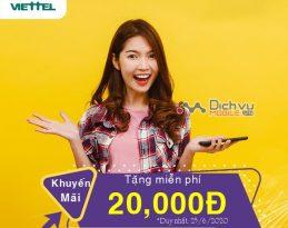 Viettel khuyến mãi tặng 20,000đ miễn phí cho khách hàng thuộc danh sách