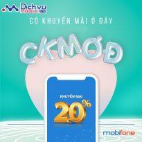 Mobifone khuyến mãi 20% giá trị thẻ nạp duy nhất ngày vàng 31/7/2020