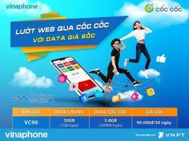 Cách đăng ký gói VC90 Vinaphone nhận mỗi ngày 1GB dùng chung và 200MB