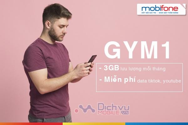 Hướng dẫn đăng ký gói GYM1 Mobifone co 3GB và Free data Tiktok, Youtube