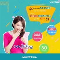 Cách đăng ký gói ST150K Viettel có 90GB chỉ 150k cho sim di động toàn mạng