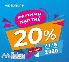 vinaphone khuyen mai the nap ngay 21.8