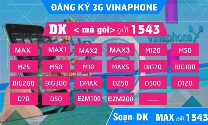 Cách đăng ký 3G Vinaphone dùng 1 ngày, 1 tuần 1 tháng, 1 năm kèm ưu đãi gọi mới nhất 2020