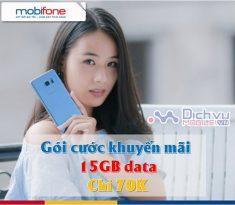 Goi khuyen mai 15GB chi 70K