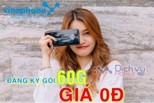 Cách đăng ký gói 60G Vinaphone nhận 60G giá 0đ cực hot
