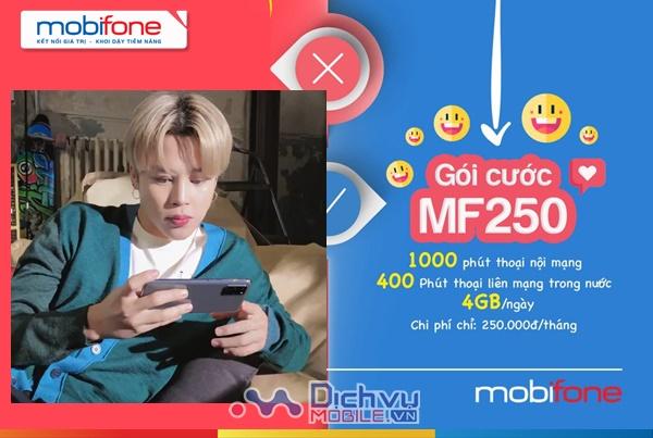 Cách đăng ký gói MF250 Mobifone nhận 1400 phút thoại, 4GB/ ngày chỉ 250k
