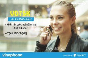 Cách đăng ký gói cước VD75K của Vinaphone