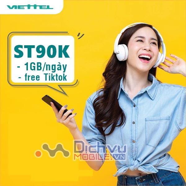 Hướng dẫn đăng ký nhanh gói cước ST90K Viettel miễn phí 30GB và free dùng Tiktok