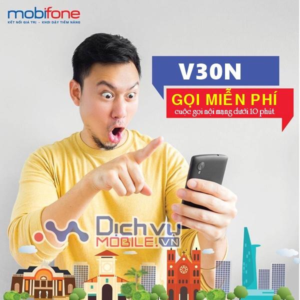 Hướng dẫn đăng ký gói V30N Mobifone miễn phí cuộc gói 10 phút