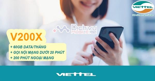 goi cuoc V200X mang Viettel