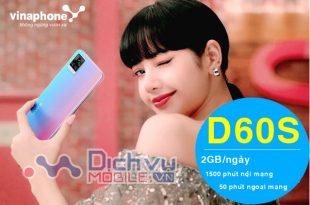 Hướng dẫn đăng ký gói D60S Vinaphone nhận 60GB miễn phí thoại