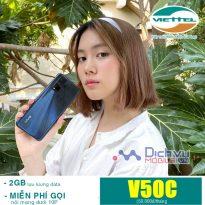 Hướng dẫn đăng ký gói V50C Viettel ưu đãi gọi free tặng 2GB chỉ 50,000đ