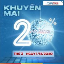 Mobifone khuyen mai ngay 1.12.2020