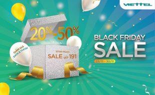 Black Friday: Viettel khuyến mãi giảm 20% - 50% cước thoại, data siêu hấp dẫn