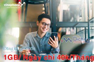 Hướng dẫn đăng ký gói cước Vinaphone chỉ 40K/ tháng nhận 1GB/ ngày