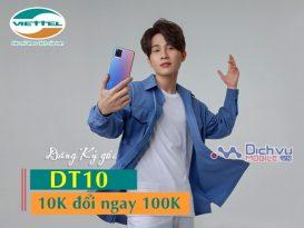 Hướng dẫn đăng ký gói DT10 Viettel nhận 100,000đ chỉ với 10,000đ