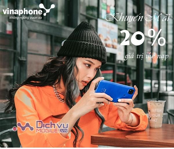 Vinaphone khuyến mãi 20% thẻ nạp trong ngày 6/10/2020