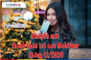 Mobifone khuyen mai thanh toan cuoc tra sau thang 12