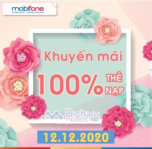 Mobifone khuyen mai the nap ngay 12.12