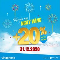 Vinaphone khuyen mai the nap ngay 31.12.2020