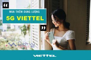 Cách mua thêm dung lượng 5G Viettel nhanh chóng
