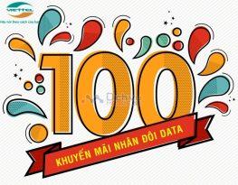 Viettel khuyến mãi 100% dung lượng khi đăng ký 4G tháng 12/2020