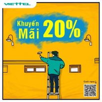 Viettel khuyến mãi tặng 20% giá trị thẻ nạp ngày 15/12/2020