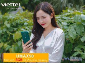 Cách đăng ký gói Umax50 Viettel nhận 5GB truy cập mạng không phí phát sinh