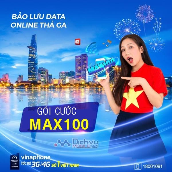 Quy định bảo lưu, cộng dồn data cho gói MAX100 Vinaphone