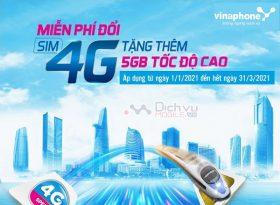 Doi sim 4G Vinaphone mien phi tang 5GB data