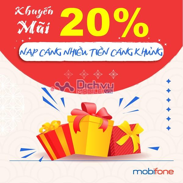 MobiFone khuyến mãi 20% toàn quốc ngày 27/1/2021
