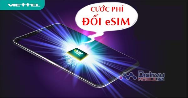Giá chính thức của eSim mạng Viettel là bao nhiêu
