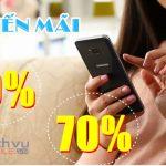 Vinaphone khuyến mãi tặng 20%-70% giá trị thẻ nạp ngày 19/1/2021