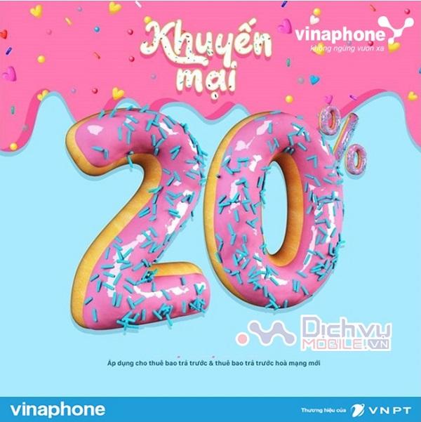 Khuyen mai the nap Vinaphone ngay 26.2