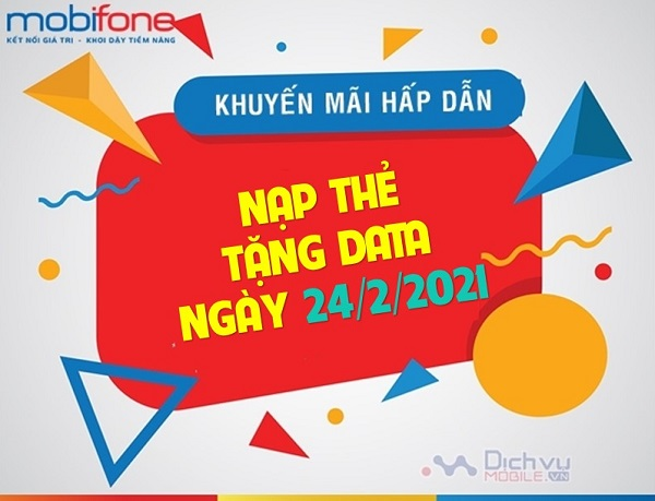 Mobifone khuyen mai nap the tang data