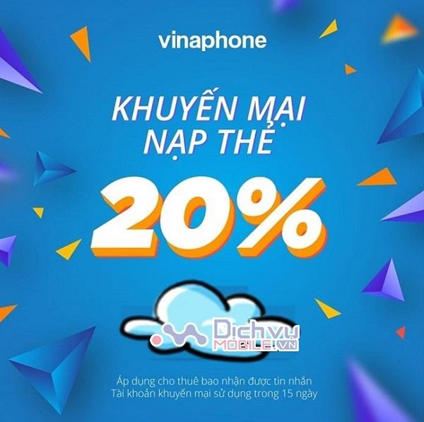 Vinaphone khuyen mai the nap ngay 23.2.2021