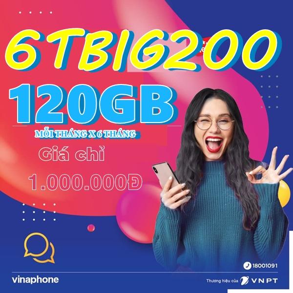 Hướng dẫn đăng ký gói 6TBIG200 Vinaphone dùng mạng 6 tháng