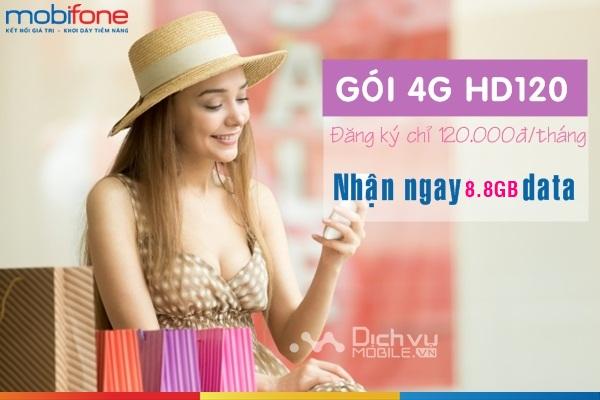 Cách đăng ký gói HD120 Mobifone nhận 6GB truy cập mạng 4G