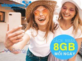Cách đăng ký 8GB/ ngày cho sim Vinaphone siêu Hot