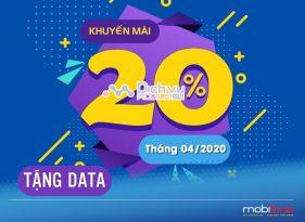 LICH KHUYEN MAI NAP THE TANG DATA MOBIFONE THANG 4