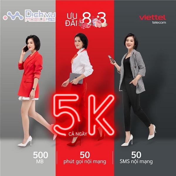 Viettel tang goi cuoc V7C cho khach hang dip 8.3