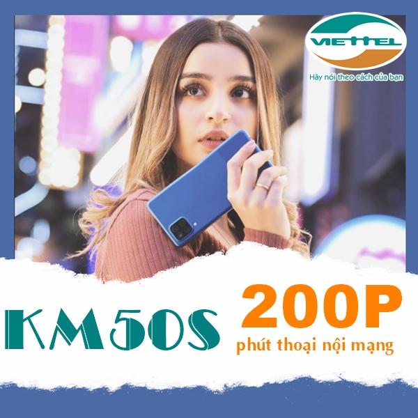 Hướng dẫn đăng ký gói KM50S Viettel có 200 phút chỉ 50k