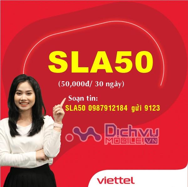 Hướng dẫn đăng ký gói SLA50 Viettel nhận ưu đãi 102GB data siêu hot