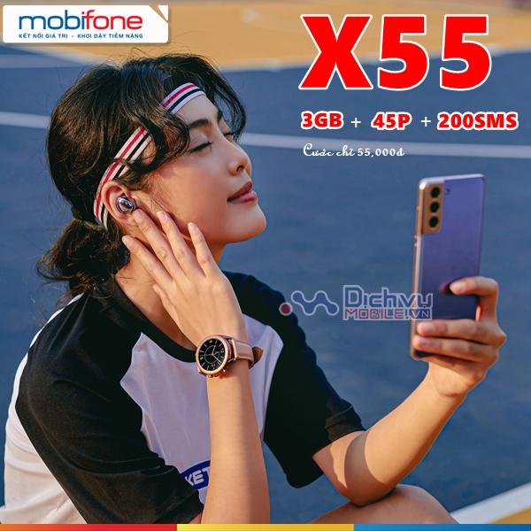 Hướng dẫn đăng ký gói X55 Mobifone gọi lướt web thả ga chỉ 55,000đ