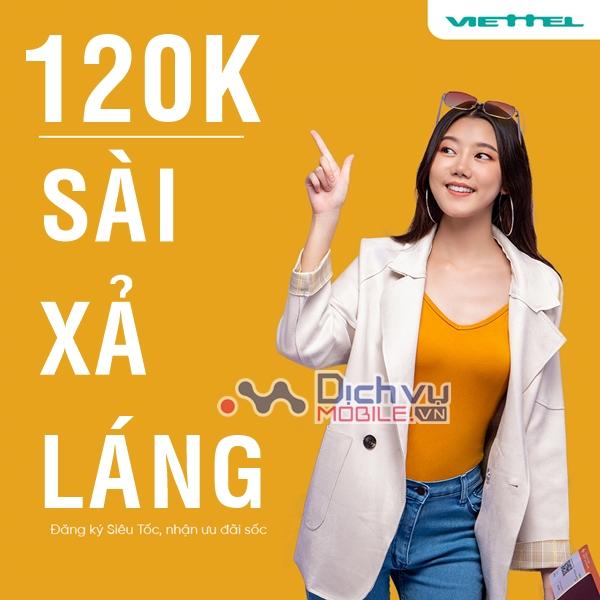 List danh sách các gói 4G Viettel 120k ưu đãi cực khủng