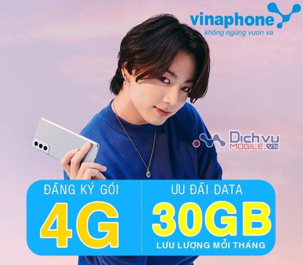 Hướng dẫn đăng ký các gói 4G Vinaphone ưu đãi 30GB/ tháng giá từ 40K
